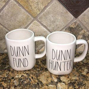 Rae Dunn DUNN HUNTER& DUNN FUND Mugs